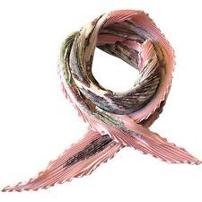 HERMÈS HERMES PARIS SQUARE SCARF - SPRINGS PLISSÉ pleated scarf Ladies