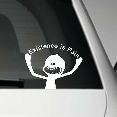 Rick and Morty Mr Meeseeks Decal Vinyl Sticker Car Wall Logo Existence is Pain