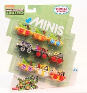 Thomas /& Friends Teenage Ninja Turtles Minis Train 9 Pack