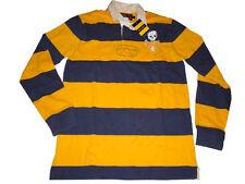 Ralph Lauren Rugby Big Skull Crossbones Polo Size M (Medium) Yellow Blue