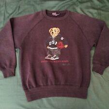 POLO RALPH LAUREN basketball Bear Vintage Crewneck Sweatshirt SMALL