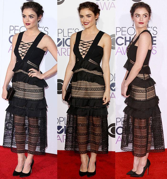 SELF-PORTRAIT Lace-Up Flounced Column Kleid Größe UK 10 Sold Out