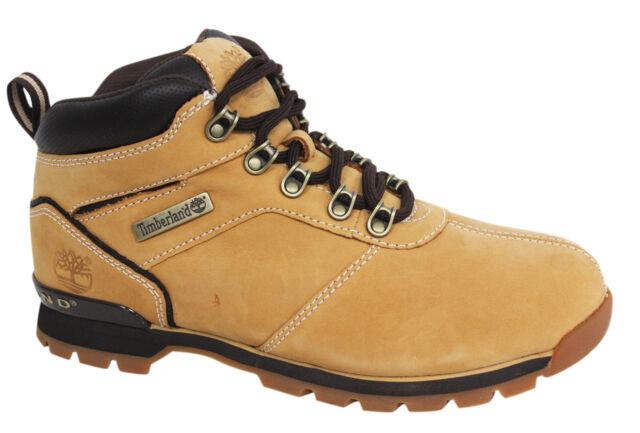 Timberland Splitrock 2 Lace Up Hiker Wheat Nubuck Leather MensBoots A11X4 B85C