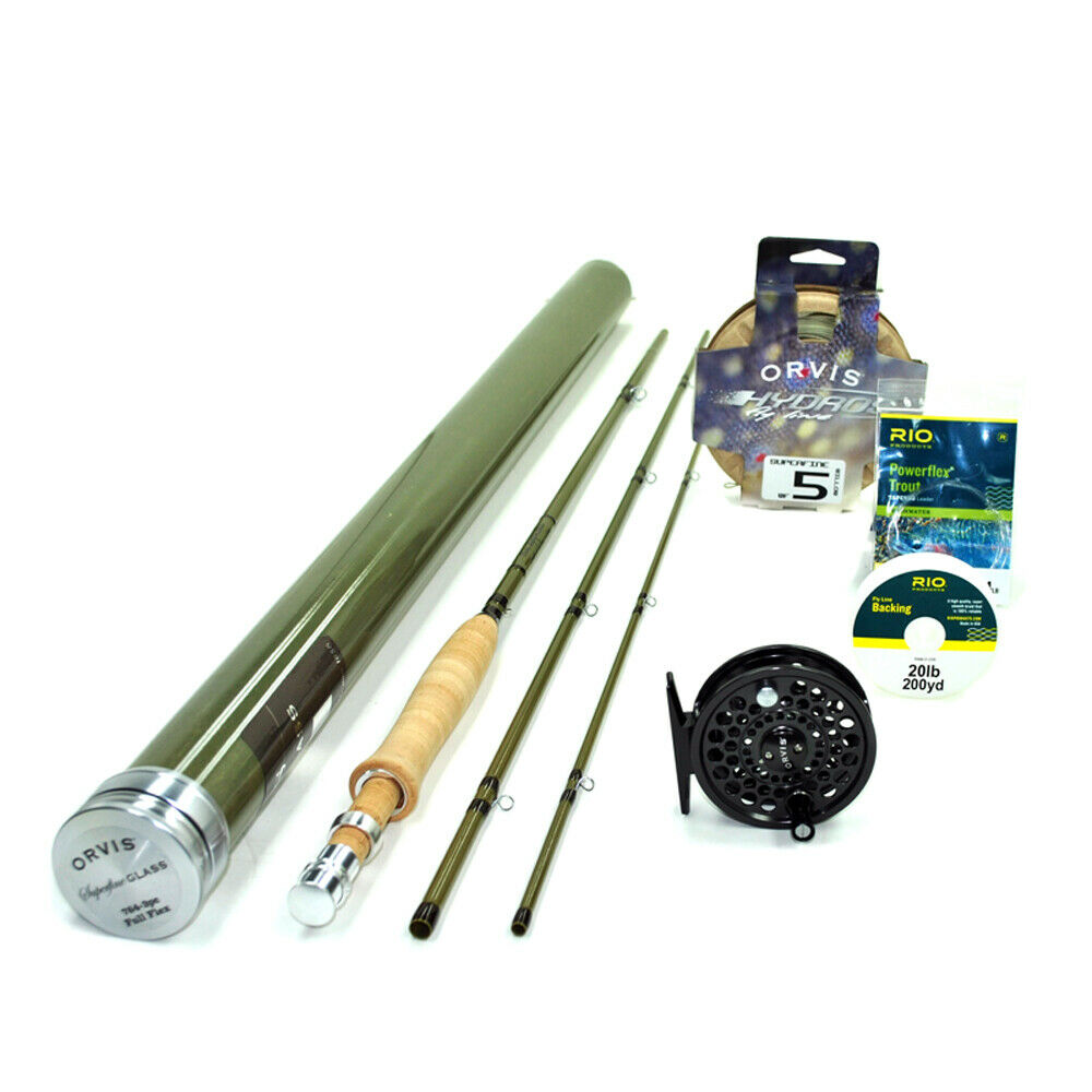 Orvis Superfine Glass 763-3 Fly Rod Outfit : 7'6