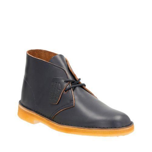 CLARKS ORIGINALS Desert Men/'s Petrol Blue Leather Chukka Boots 26118516