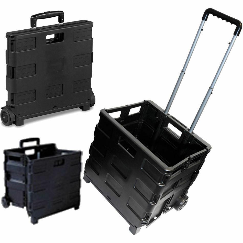 Nouveau Pliable Coffre Panier Shopping Trolley repliable Boîte de rangement de roues léger