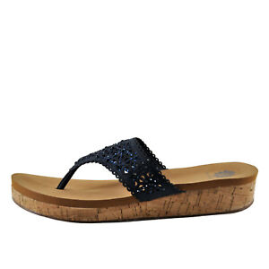 02c2945ed3f0 Yellow Box Korinda Navy Women s Slip On Platform Sandal 39320