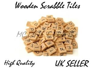 Image Is Loading Wooden Scrabble Individual Tiles Letters Numbers For Crafts