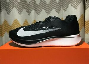 official photos c6238 5dded Image is loading Nike-Zoom-Fly-Black-White-Anthracite-Running-Shoes-