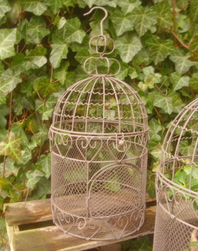 Large Decorative Cage Bird Antique Country House Style Metal Garden Decor