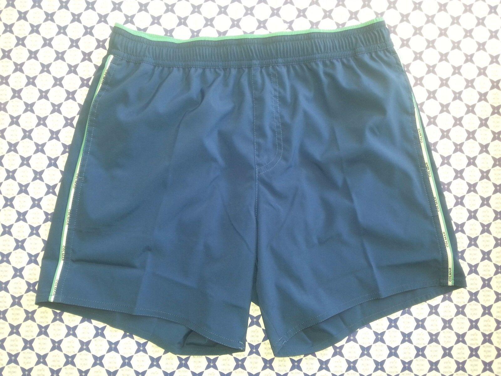 Costume Boxer COLMAR - Blu/Celeste Piping Lat. Logato- Mare Piscina -72231QF 250