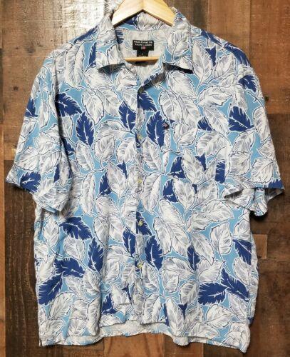 Polo Ralph Lauren Blue Hawaiian Floral Mens Button