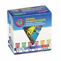 Gem Office Products Triangular Paper Clips - Medium - 500 / Box - Assorted