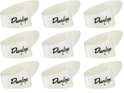 12 pcs. Thumbpicks white plastic Dunlop 9013R lefthand large