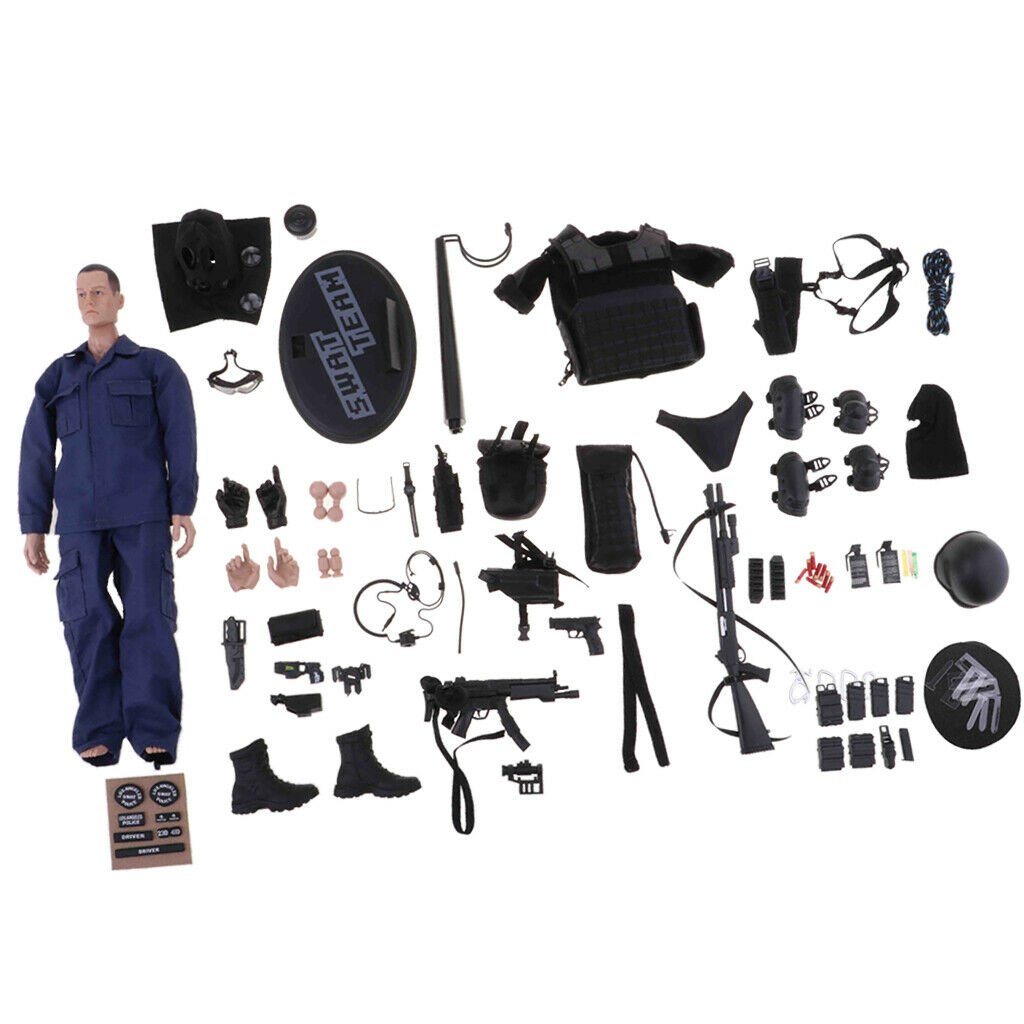 1 Set 1 6 SWAT Assualter Soldier modellololo  giocattolo With Full Tactical Equipment Part  vendita online