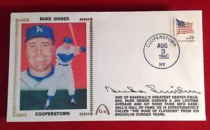 Duke Snider signed 1980 Cooperstown Cachet PSA/DNA Cert# W40452