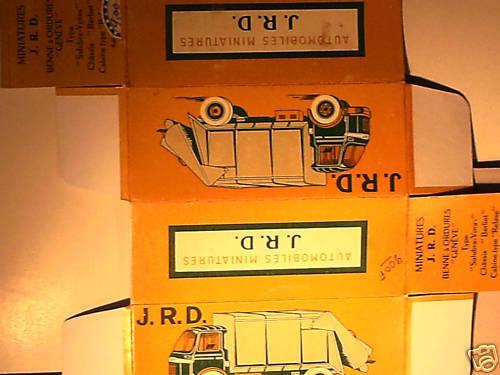 REPLIQUE BOITE BERLIET BENNE ORDURES 1960 JRD