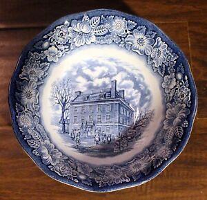VTG-LIBERTY-BLUE-Serving-Bowl-Side-Dish-Staffordshire-England-Transferware-9-034