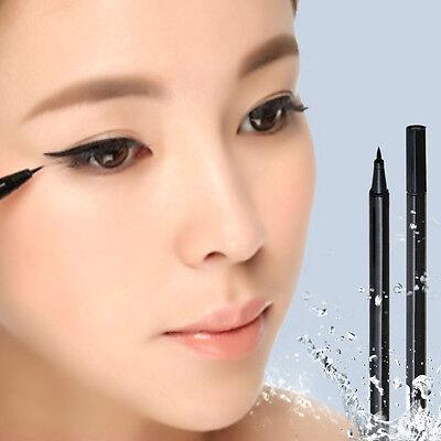 Black Makeup Gel Thin Design Waterproof Eyebrow Liquid Pen Eye Liner Pencil  OE