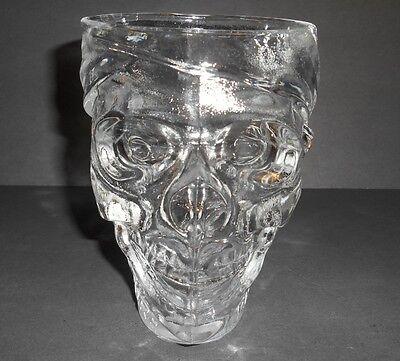 Luminarc USA Treasure Island Casino Glass Pirate Skull 32 Oz Cup Heavy Mug Stein