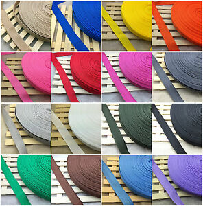 New-20mm-25mm-Width-Nylon-Webbing-Strapping-2-5-10-50-Yards-21-Color-Pick-C
