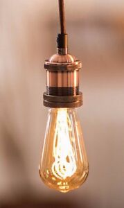 Details About Vintage Lighting Retro Type Copper Light Pendant Bulb Braided Cable