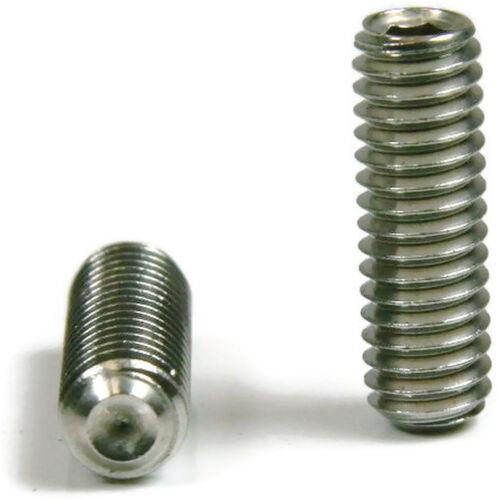 Stainless Steel Socket Set Screw 100-#4//40 x 3//4