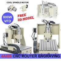 4 Axis Cnc Router Engraver Machine Milling Drilling Mach3 3d Cutter 800w Usa