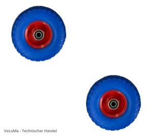 2 x  Ø 260 mm Schubkarrenrad Pannensicher PU Sackkarrenrad Ersatzrad Reifen Rad