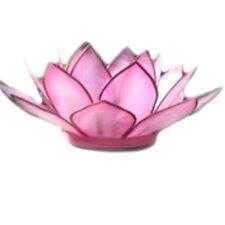 Capiz Shell Pink Flamingo Lotus Flower Holder free tea light candle OM Gallery