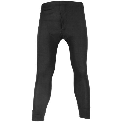 Highlander Mens Thermal Long Johns Base Layer Leggings Warm Police Pants Black