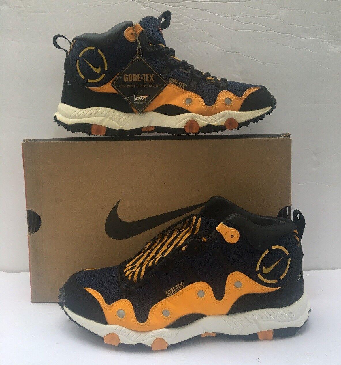 Vintae Nike Air Minot 104100-471 Gore-tex Hiking Sneaker Navy/yellow/black 104100-471 Minot 8.5 b7cc0e