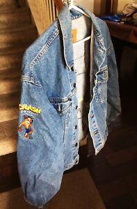 Crash-Bandicoot-Holy-Grail-Denim-Jacket-Promo-Rare-Vintage-Jean-Playstation-1998
