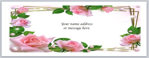 bo 651 Personalized Address labels Pink Roses Flowers Buy 3 get 1 free