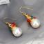 1Pair Women Baroque Pearl Hoop Huggies Ear Stud Earrings Gothic Natural Jewelry