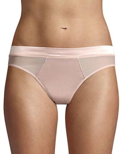 NWT DKNY Satin Bikini Briefs in Blossom Pink Sz Large