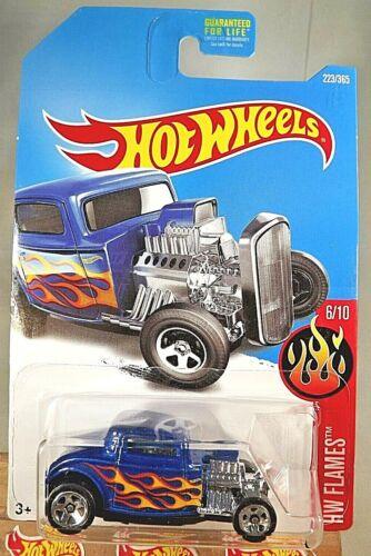 2017 Hot Wheels #223 HW Flames 6//10 /'32 FORD Blue Variation w//5 Spoke Wheels