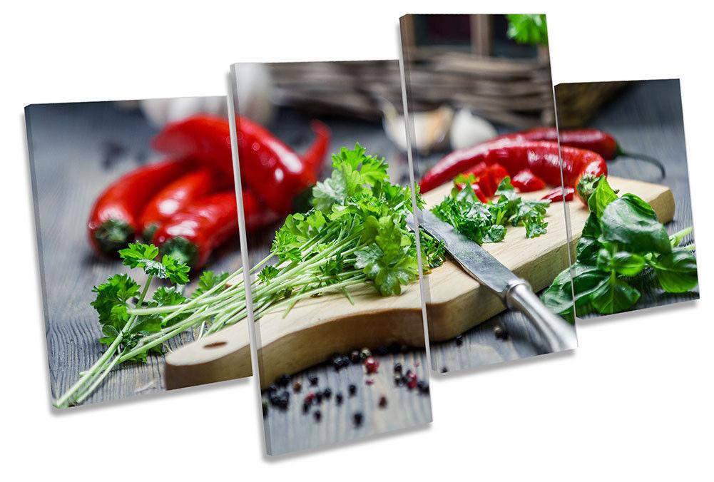 Spezie erbe da cucina foto Multi Tela Wall Art Print Print Print 4d4642