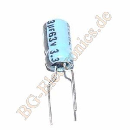 50 x 3.3µF 3.3uF 63V 85° RM5 Elko Kondensator Capacitor Radial Richey  50pcs