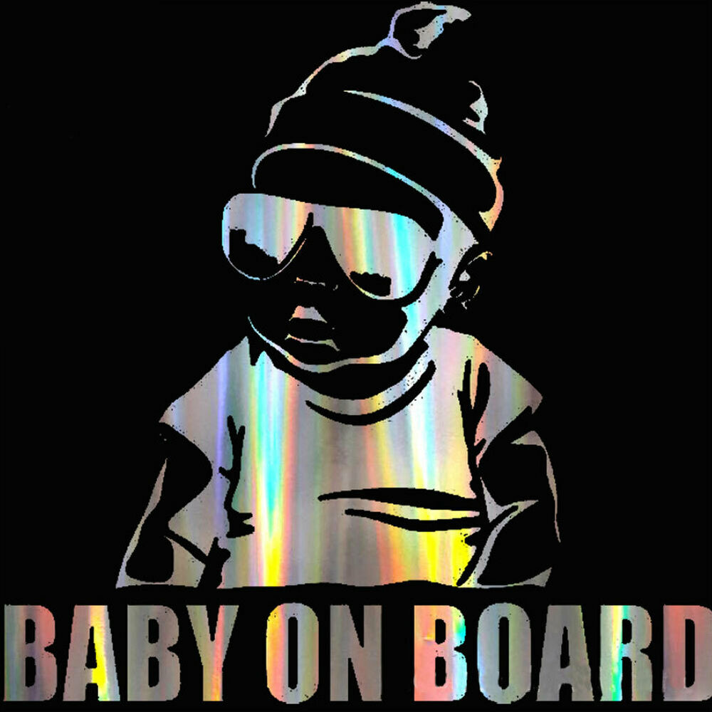 EB_ Colorful Laser Baby in Car Body Window Reflective Sticker Warning Sign Decal