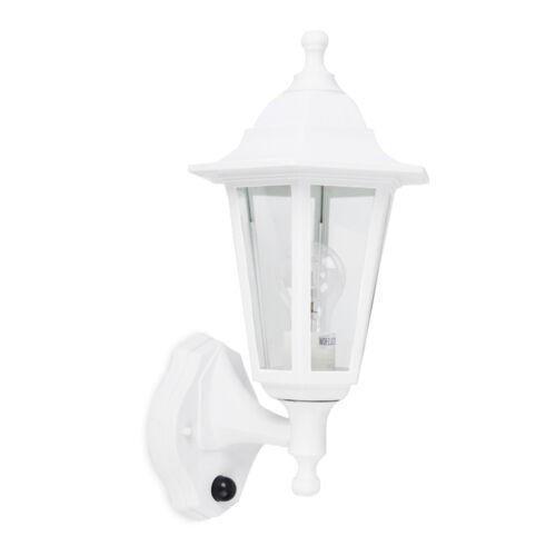 Outside light pir ebay ip44 white pir sensor outdoor garden outside security wall light lantern lights aloadofball Choice Image
