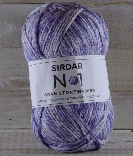 Sirdar-No1 Aran Stonewashed ; Lot ASW02 0804 Faded Bloom