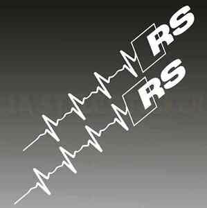 pulsschlag rs logo aufkleber rs s line herzschlag audi rs. Black Bedroom Furniture Sets. Home Design Ideas