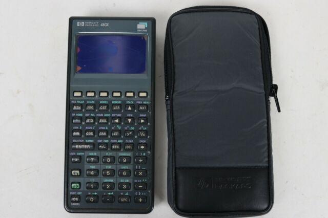 HP 48GX Hewlett Packard Graphing Calculator 128K RAM - FOR REPAIR, SCREEN BROKEN