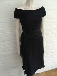 8d9ef8f24001f Valentino Boutique  90s Silk Little Black Dress Elegant Size US 6 UK ...