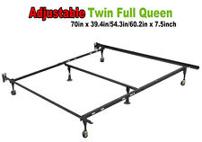 Metal Bed Frame Adjustable Queen Full Twin Size W/ Center Support