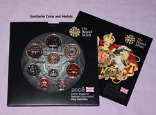 2008 ROYAL MINT BRILLIANT UNC SET COINS - Scarce Olympics £2 Coin