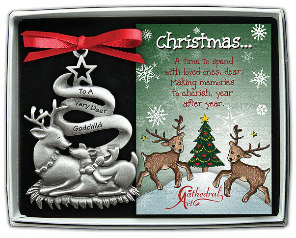 To A Very Deer Godchild Christmas Ornament Family New in ...
