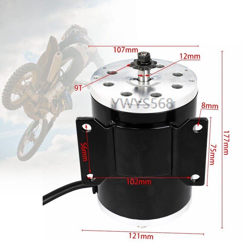 1800W 48V Electric Brushless Motor T8F 9T for Scooter ATV Go kart E-Bike MY1020