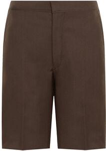 School-Uniform-Youth-Boys-Single-Pleat-Bermuda-Shorts-Adults-Formal-Schoolwear
